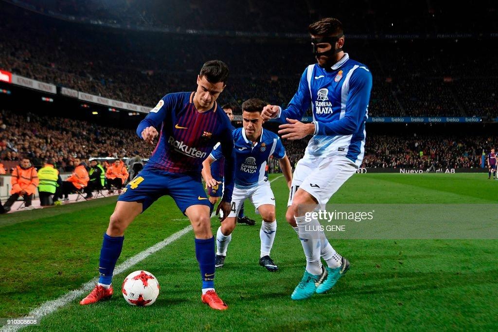 FBL-ESP-CUP-BARCELONA-ESPANYOL : News Photo