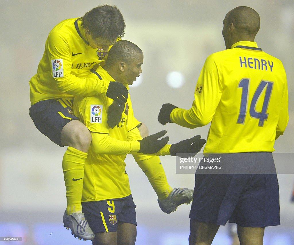 Barcelona's Cameroonian forward Samuel E : Foto di attualità