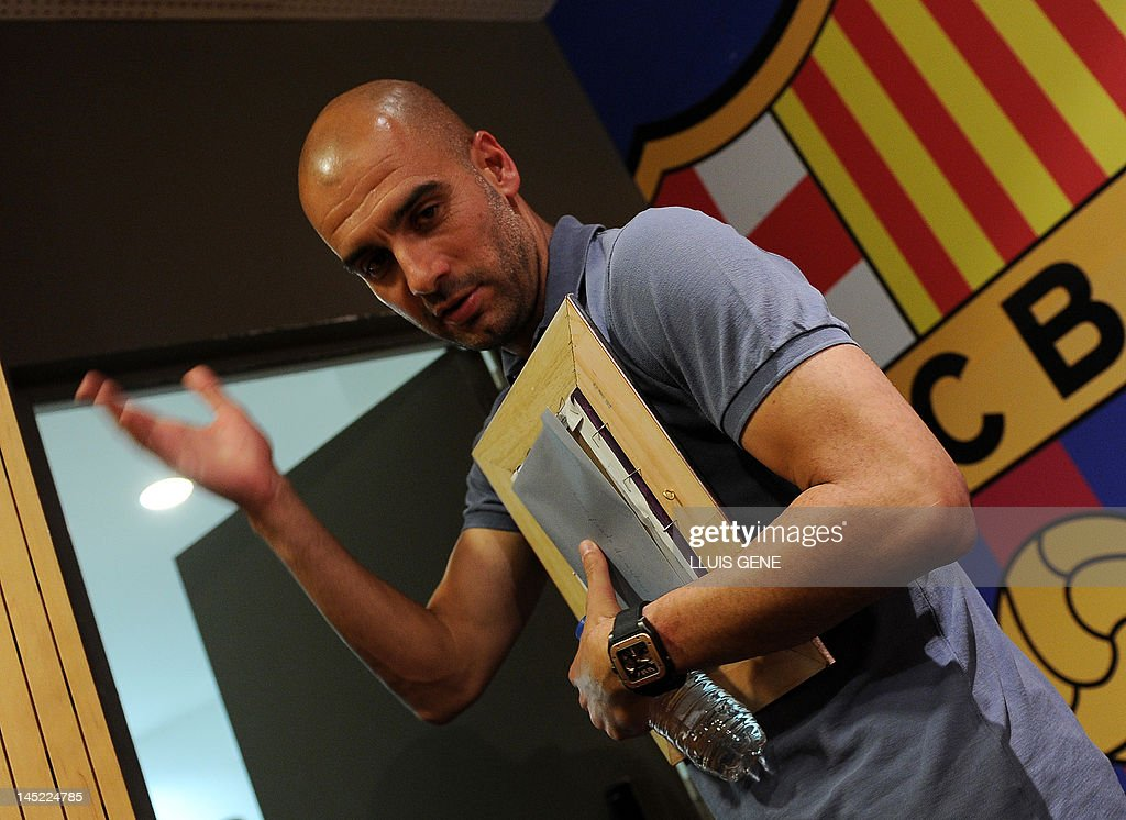 Barcelona's coach Josep Guardiola leaves : News Photo