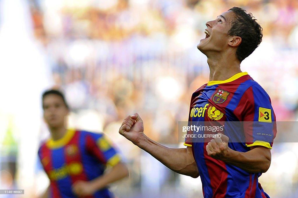 Barcelona's forward Dutch Ibrahim Afella : News Photo