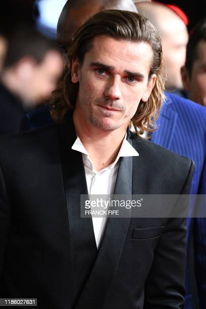 Barcelona's French forward Antoine Griezmann arrives to attend the Ballon d'Or France Football 2019 ceremony at the Chatelet Theatre in Paris on...