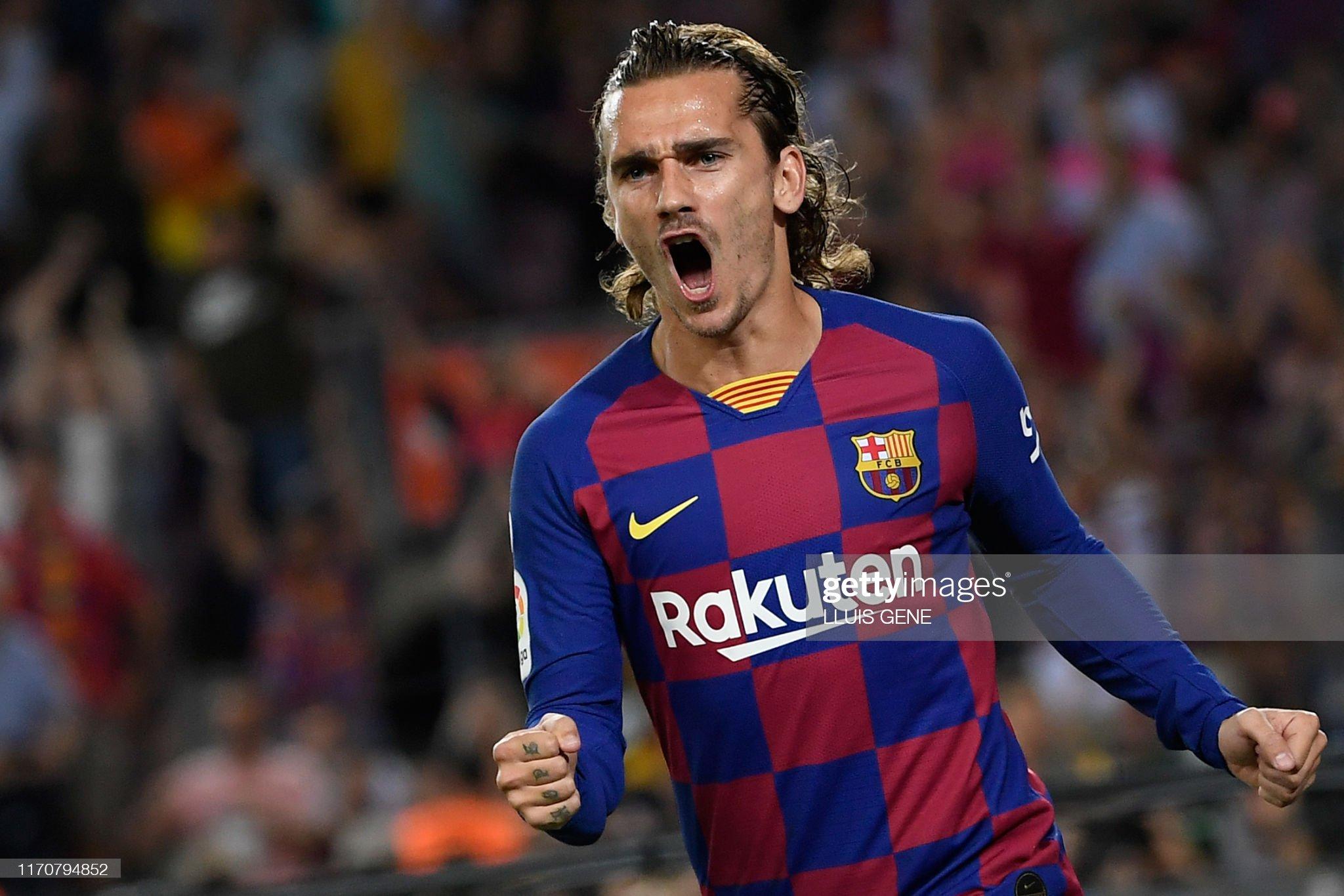 صور مباراة : برشلونة - فياريال 2-1 ( 24-09-2019 )  Barcelonas-french-forward-antoine-griezmann-celebrates-after-scoring-picture-id1170794852?s=2048x2048