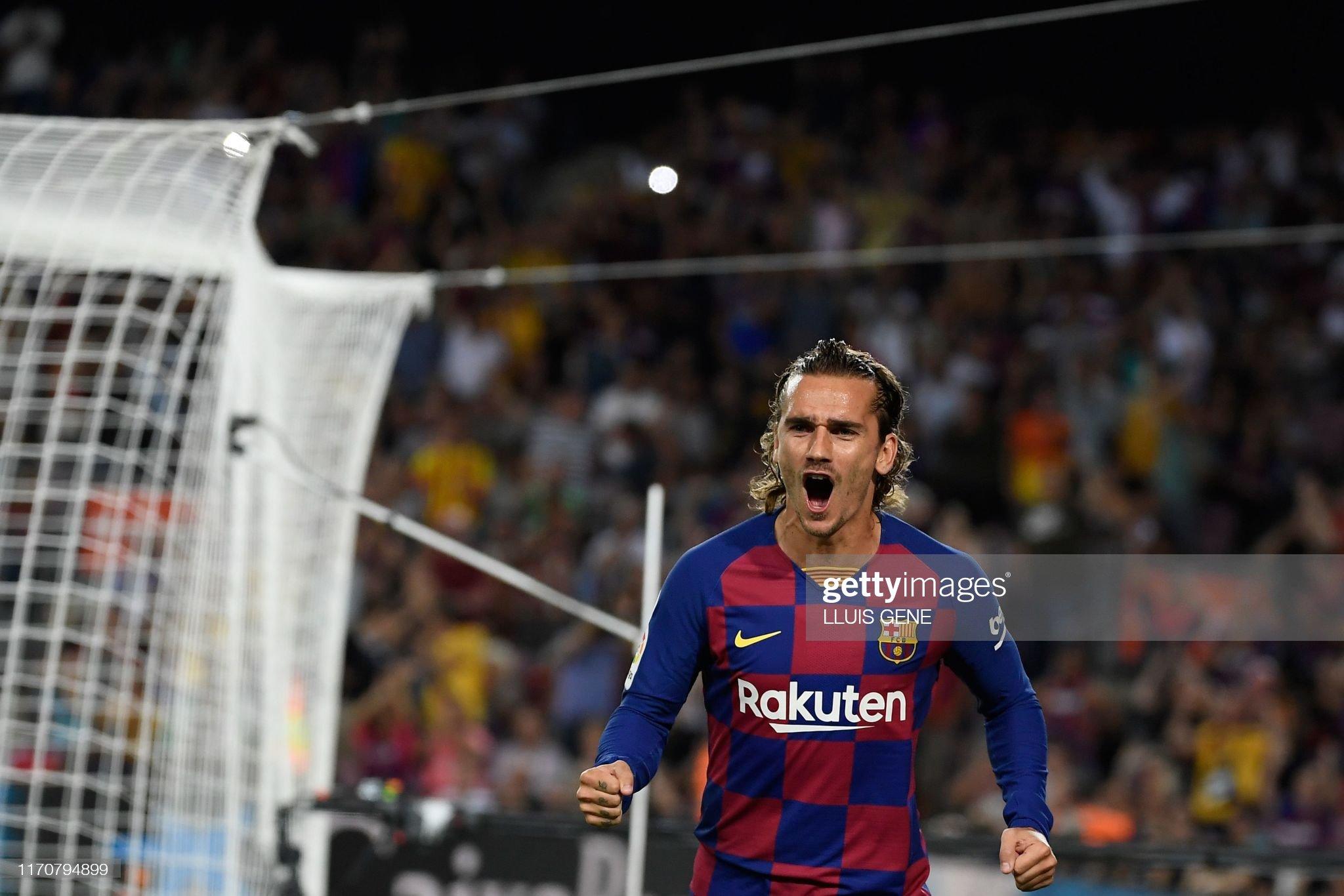 صور مباراة : برشلونة - فياريال 2-1 ( 24-09-2019 )  Barcelonas-french-forward-antoine-griezmann-celebrates-after-scoring-picture-id1170794899?s=2048x2048