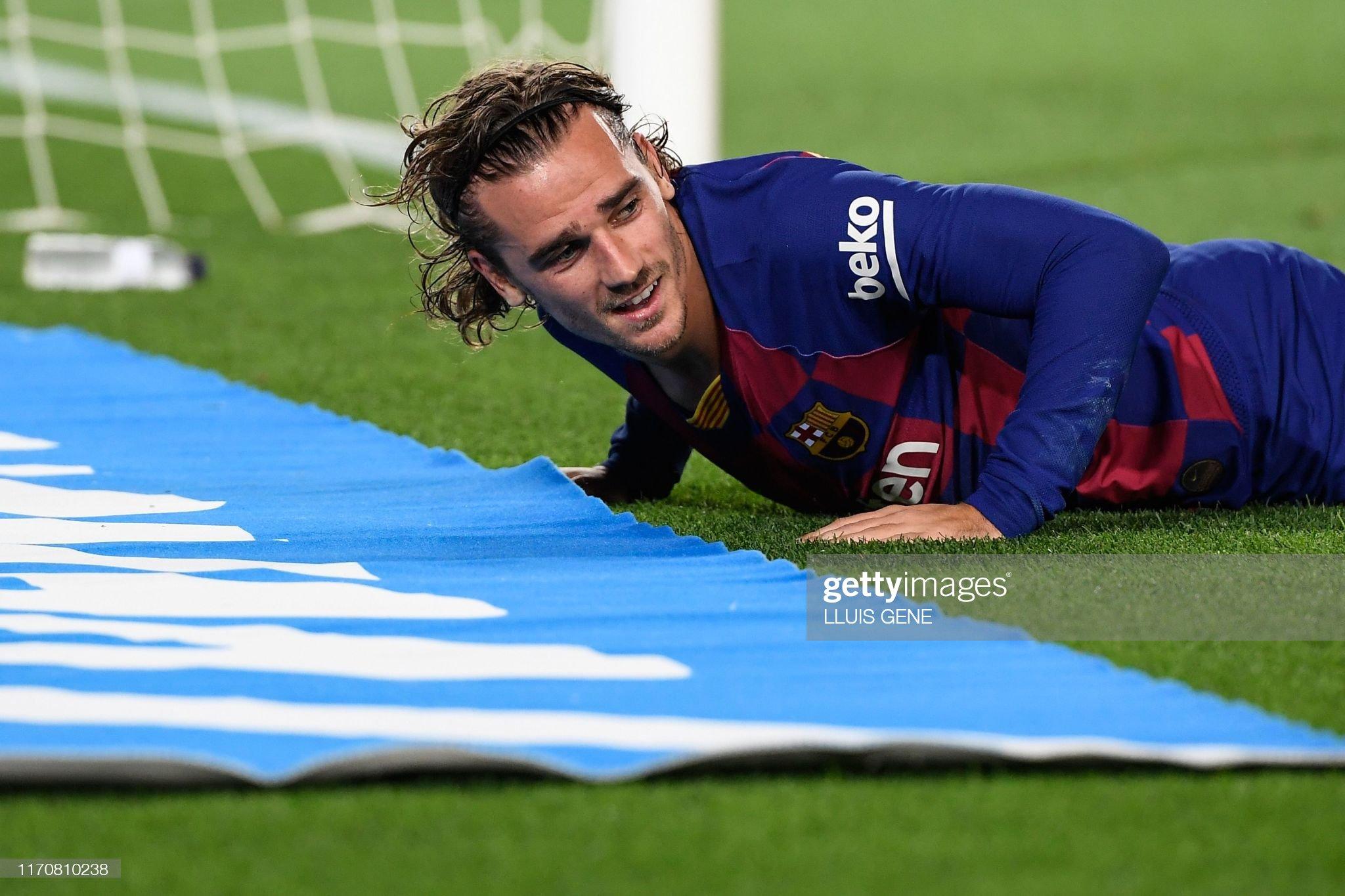 صور مباراة : برشلونة - فياريال 2-1 ( 24-09-2019 )  Barcelonas-french-forward-antoine-griezmann-reacts-after-missing-a-picture-id1170810238?s=2048x2048