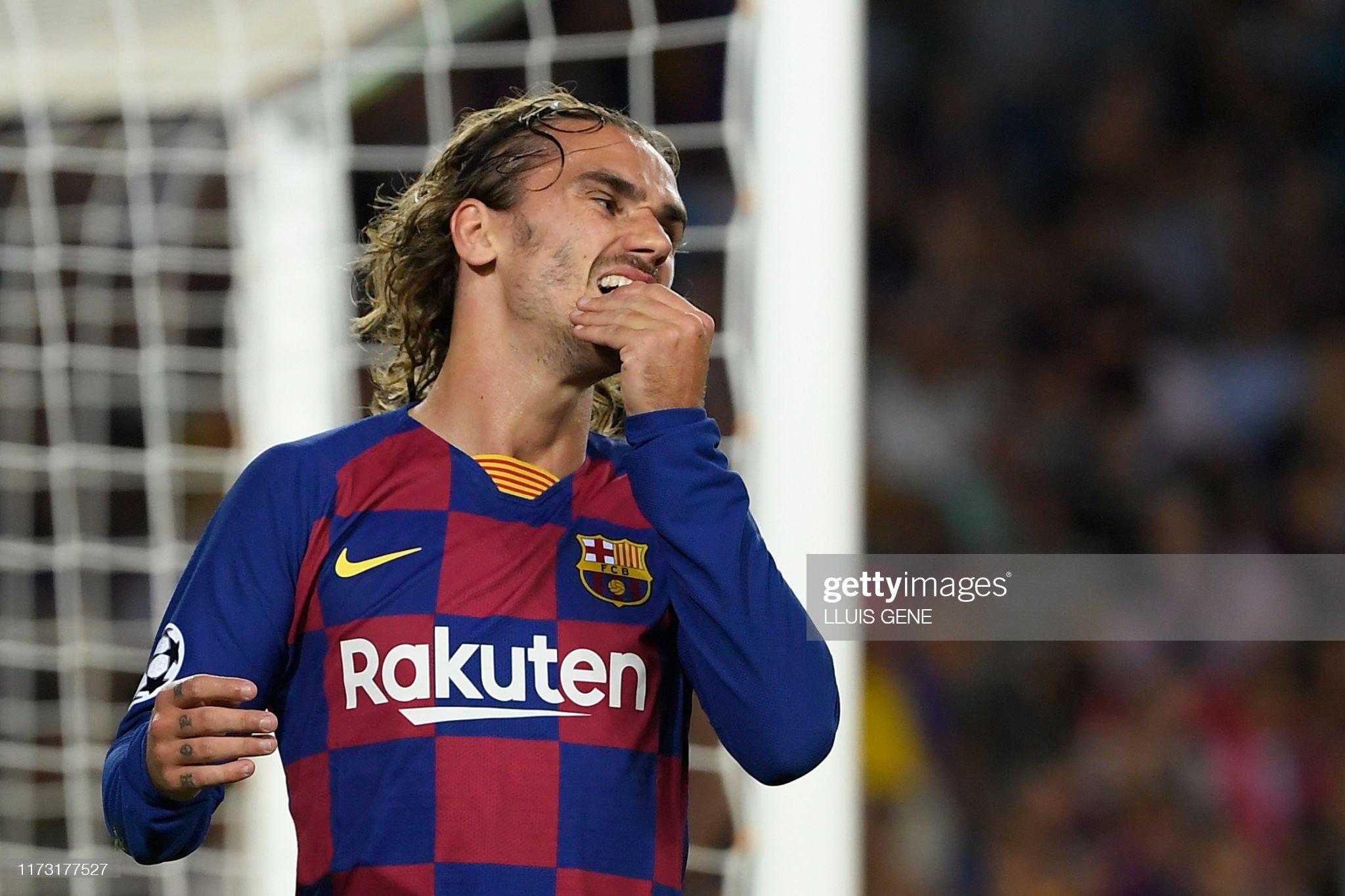 صور مباراة : برشلونة - إنتر 2-1 ( 02-10-2019 )  Barcelonas-french-forward-antoine-griezmann-reacts-after-missing-a-picture-id1173177527?s=2048x2048