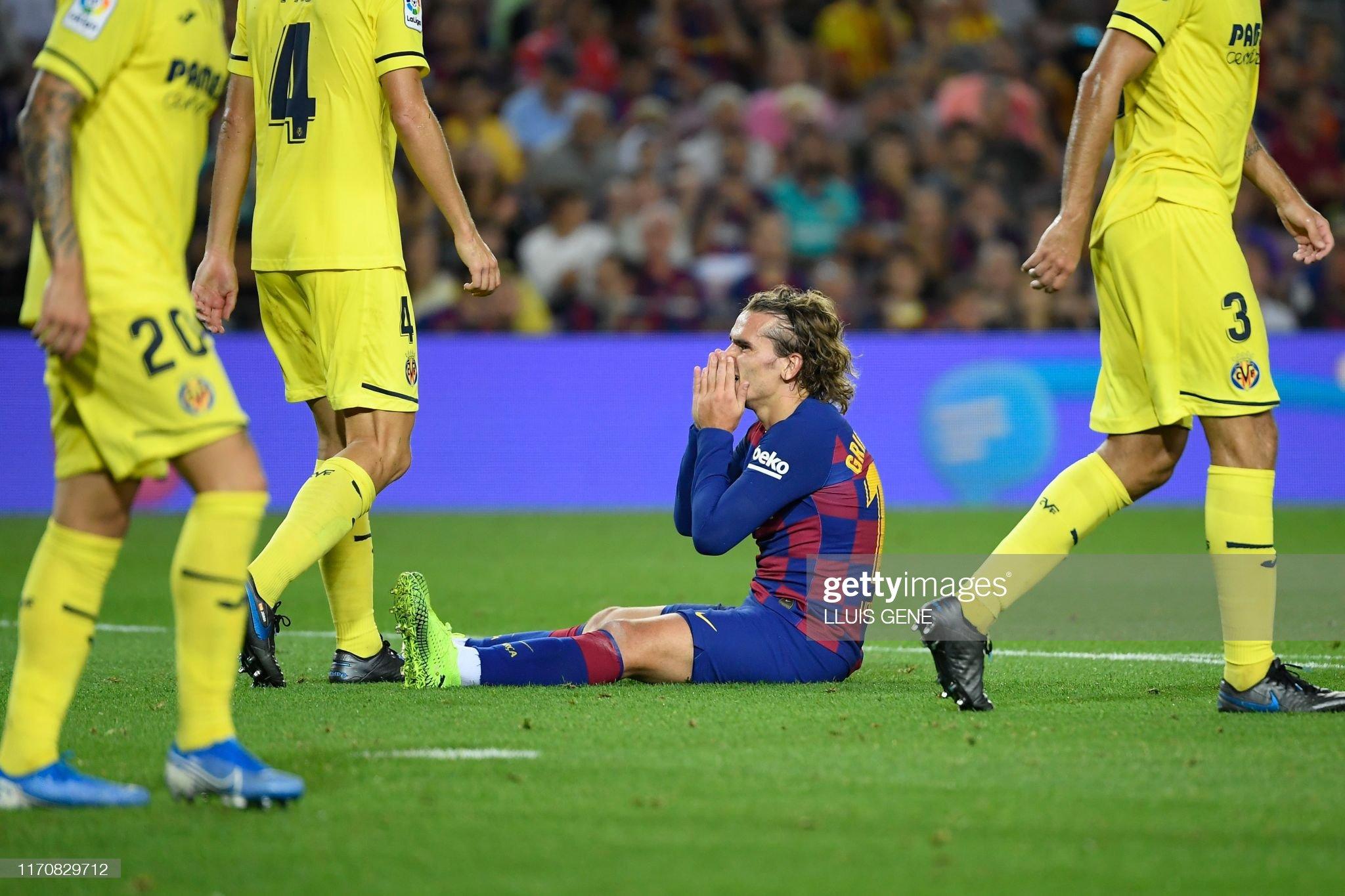 صور مباراة : برشلونة - فياريال 2-1 ( 24-09-2019 )  Barcelonas-french-forward-antoine-griezmann-reacts-after-winning-the-picture-id1170829712?s=2048x2048