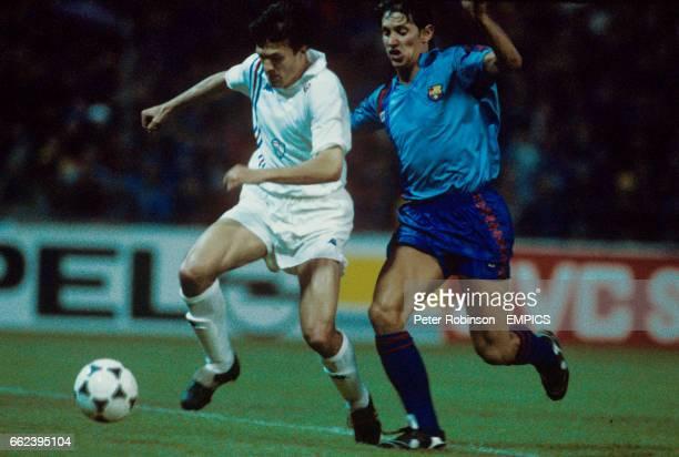 Barcelona's Gary Lineker in action