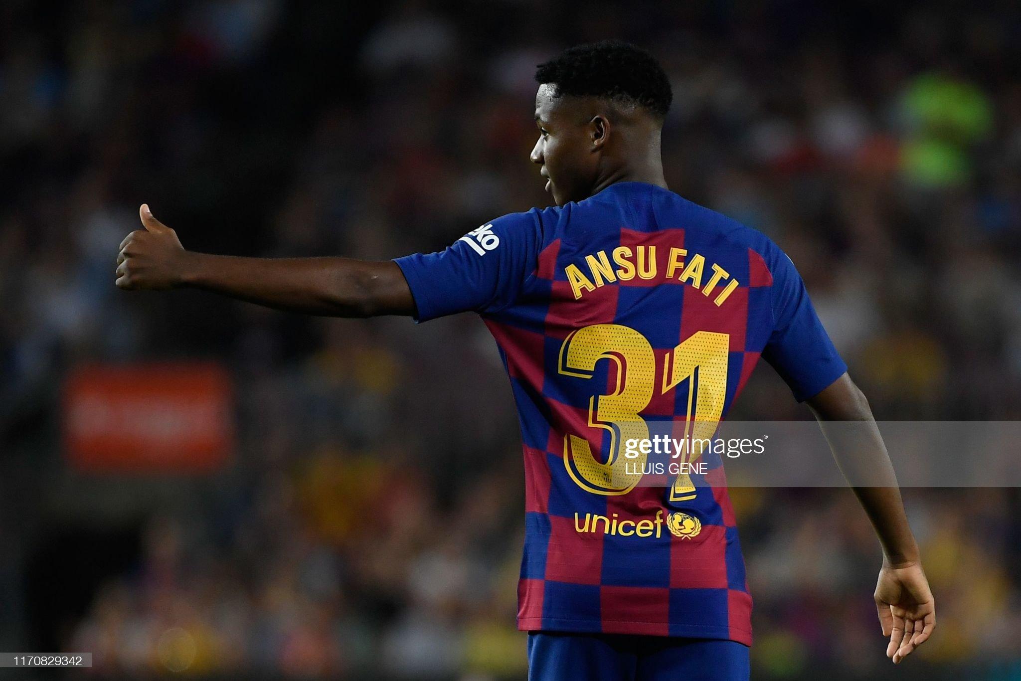 صور مباراة : برشلونة - فياريال 2-1 ( 24-09-2019 )  Barcelonas-guineabissau-forward-ansu-fati-gestures-during-the-spanish-picture-id1170829342?s=2048x2048