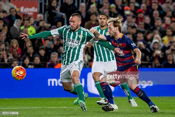 Barcelona Catalonia Spain December 30 Barcelona's Ivan Rakitic in action during the spanish football league between FC Barcelona and Real Betis...