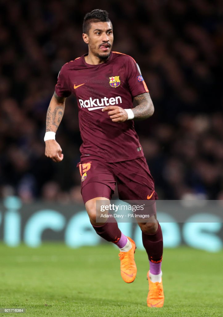 Barcelona's Jose Paulinho during the UEFA Champions League round of sixteen, first leg match at Stamford Bridge, London. PRESS ASSOCIATION Photo. Picture date: Tuesday February 20, 2018. See PA story SOCCER Chelsea. Photo credit should read: Adam Davy/PA Wire