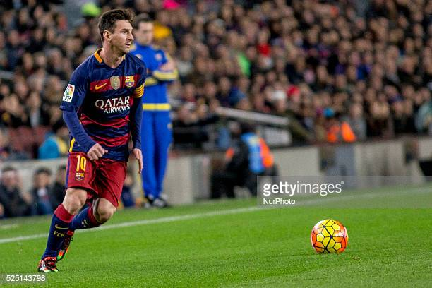 Barcelona Catalonia Spain December 30 Barcelona's Leo Messi in action during the spanish football league between FC Barcelona and Real Betis...