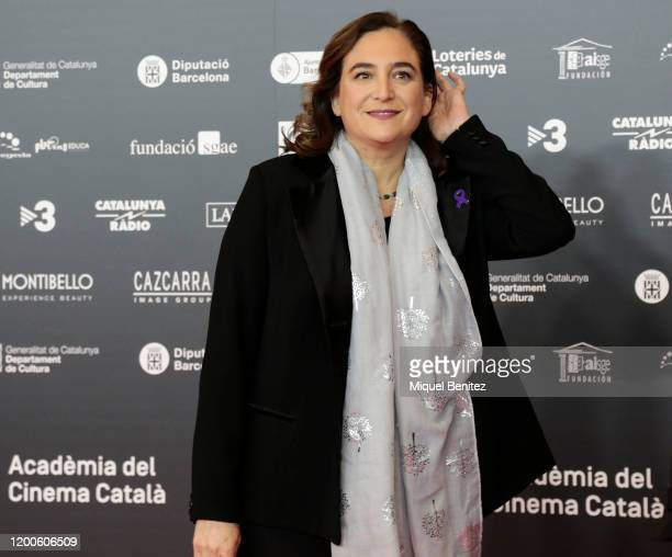 Barcelona's Major Ada Colau poses during a photocall for the 12th Gaudi Awards 2020 held at Forum Theater on January 19, 2020 in Barcelona, Spain.
