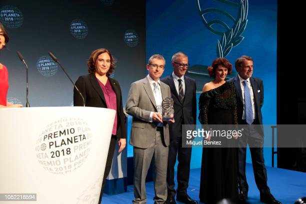 Barcelona's Major Ada Colau Santiago Posteguillo Jose Guirao Ayanta Barilli and Jose Creuheras attend the '67th Premio Planeta' Literature Award the...