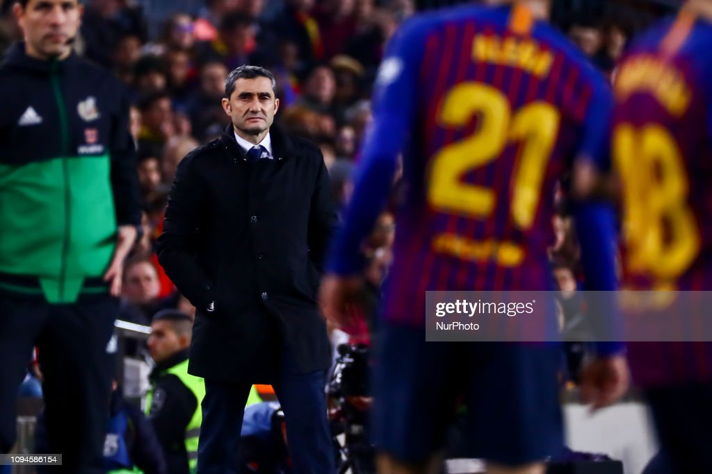 FC Barcelona v Real Madrid - Copa del Rey Semi Final : News Photo