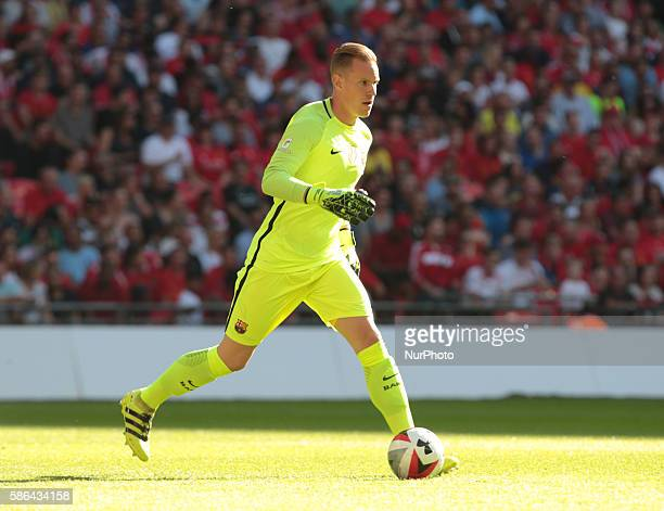 FC Barcelona's MarcAndre ter Stegen in action during todays match during International Championships Cup match between Liverpool FC and FC Barcelona...