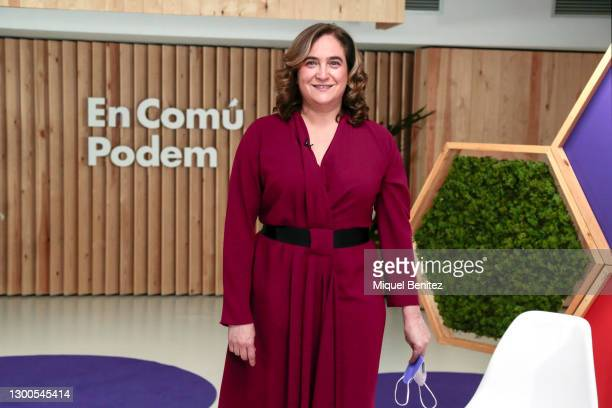 Barcelona's Mayor Ada Colau attends the Feminist event ahead of Catalan elections of 'En Comu Podem' colloquium at the 'En Comu Podem' party venue on...