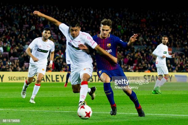 Barcelona's midfielder Denis Suarez in action during the Spanish Copa del Rey football match between FC Barcelona and Murcia CF at the Camp Nou...