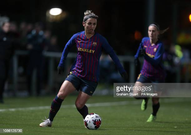 Barcelona's Natasha Andonova playing against Glasgow City during the UEFA Women's Champions League round of sixteen second leg match at Petershill...