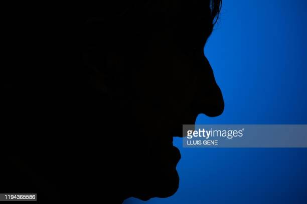 TOPSHOT Barcelona's new coach Spaniard Quique Setien holds a press conference at the Joan Gamper Sports City training ground in Sant Joan Despi on...