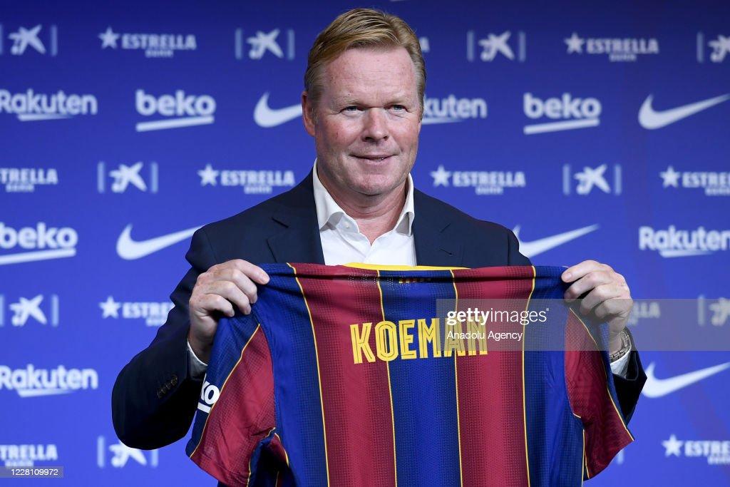 Barcelona FC presents Ronald Koeman as new head coach : News Photo
