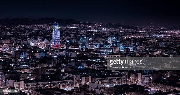 Barcelona's nights - Agbar tower