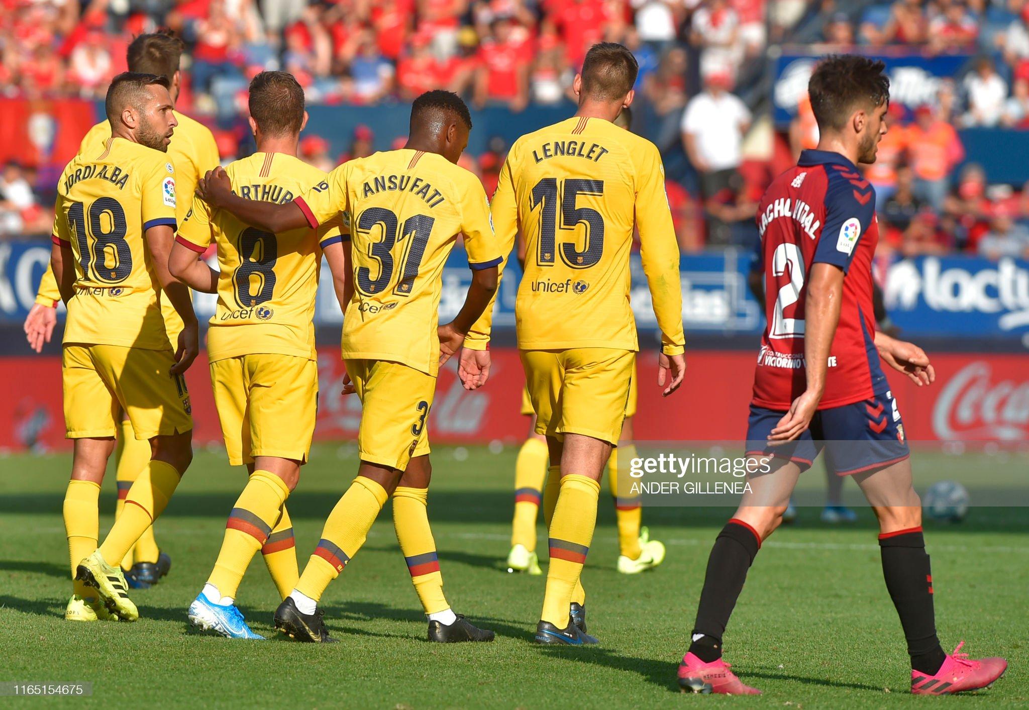 صور مباراة : أوساسونا - برشلونة 2-2 ( 31-08-2019 )  Barcelonas-players-celebrate-after-barcelonas-brazilian-midfielder-picture-id1165154675?s=2048x2048