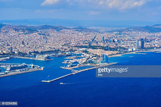 Barcelona's port from the air