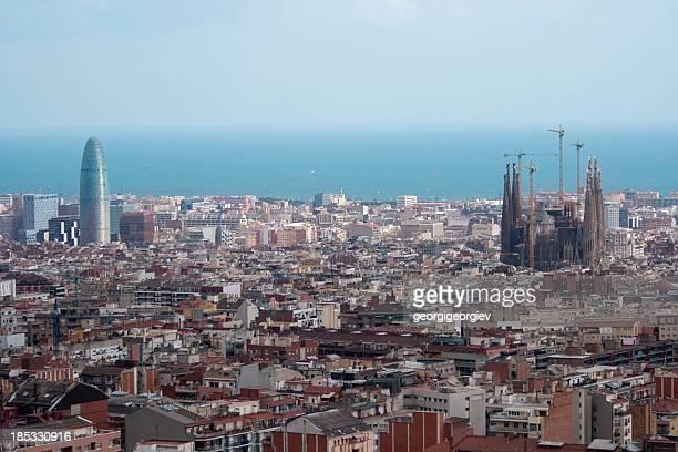 Los edificios de la ciudad de Barcelona, España