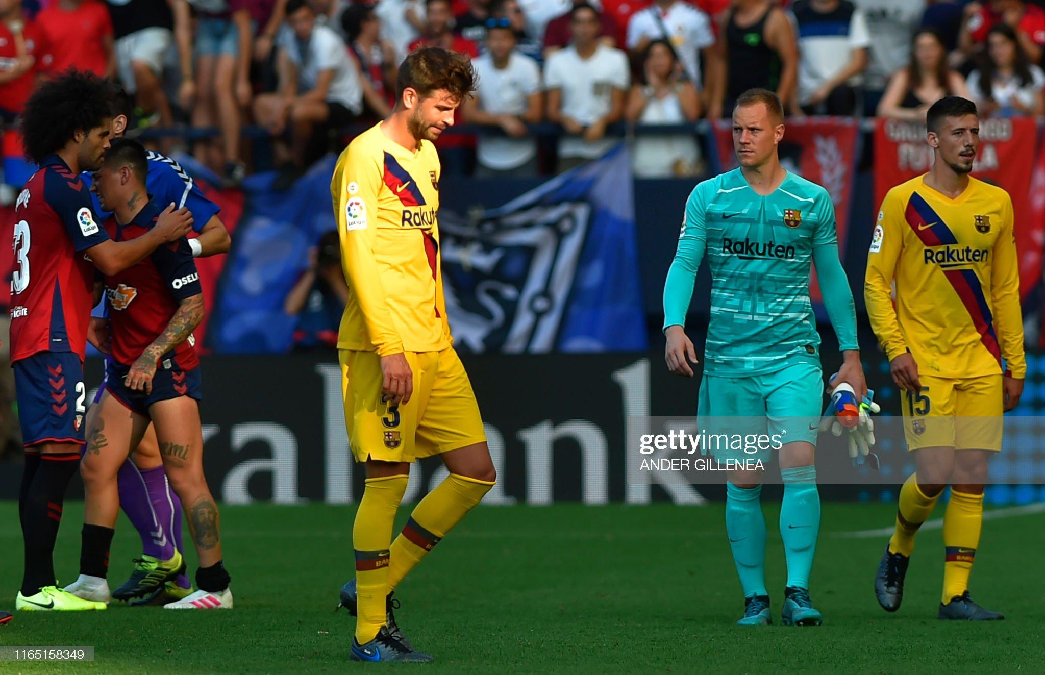 صور مباراة : أوساسونا - برشلونة 2-2 ( 31-08-2019 )  Barcelonas-spanish-defender-gerard-pique-reacts-after-the-spanish-picture-id1165158349?s=2048x2048