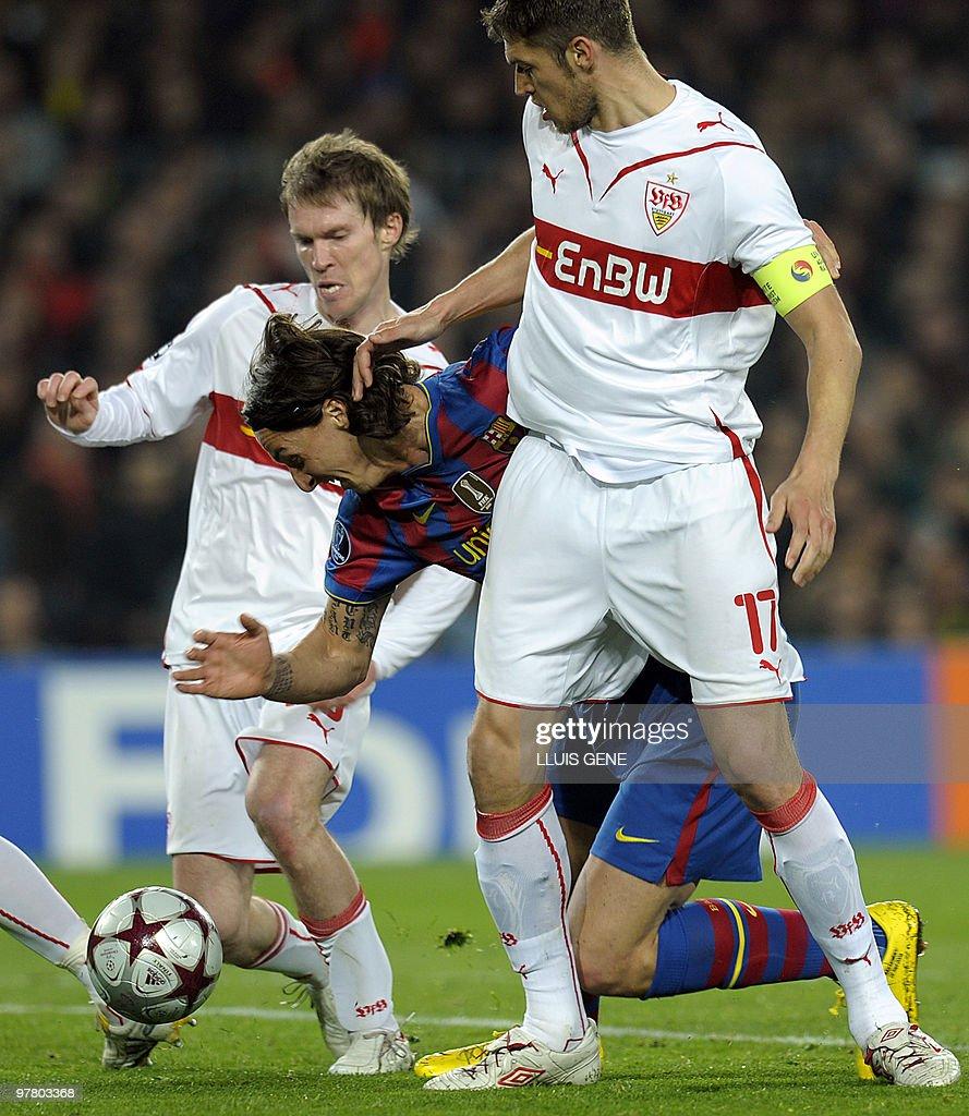 Barcelona's Swedish forward Zlatan Ibrah : News Photo
