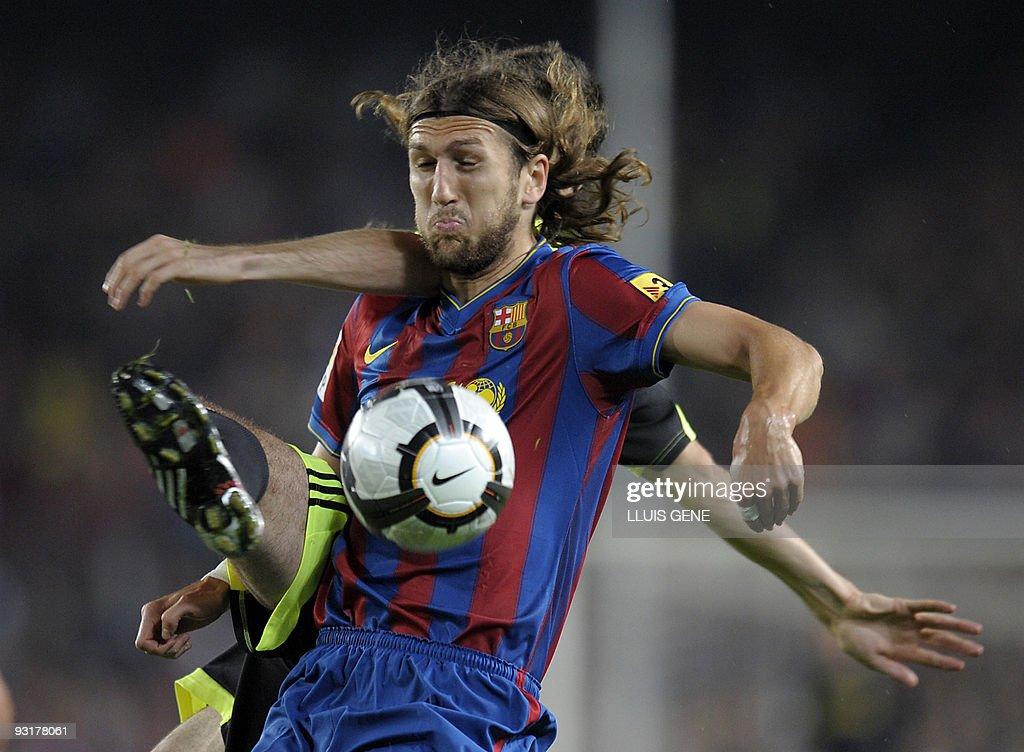 Barcelona's Ukrainian defender Dmytro Ch : News Photo