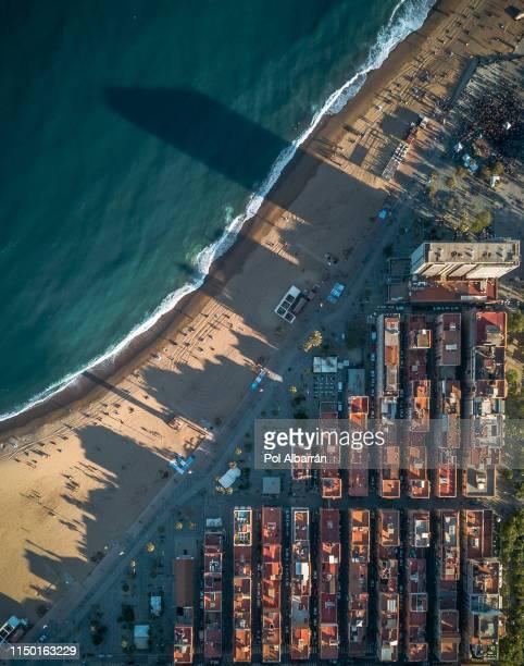 barceloneta beach - la barceloneta stock pictures, royalty-free photos & images