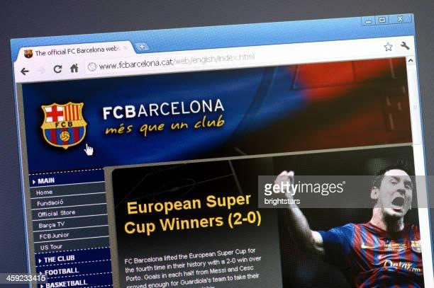 FC Barceolona main page