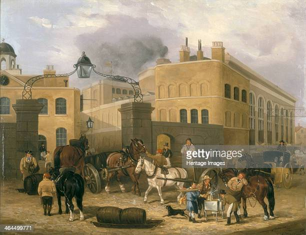 'Barclay and Perkins's Brewery in Southwark' c1840 Brewery entrance with horses pulling barrels In the middle of the 19th century the Anchor Brewery...