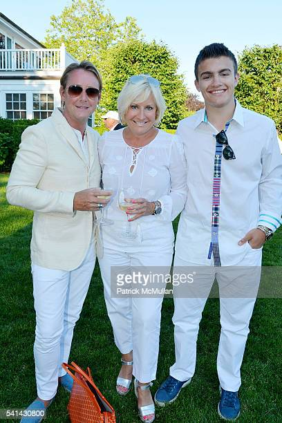 Barclay Butera Christine Phillips and Alex Phillips attend The Sixteenth Annual Midsummer Night Drinks Benefiting God's Love We Deliver at Private...