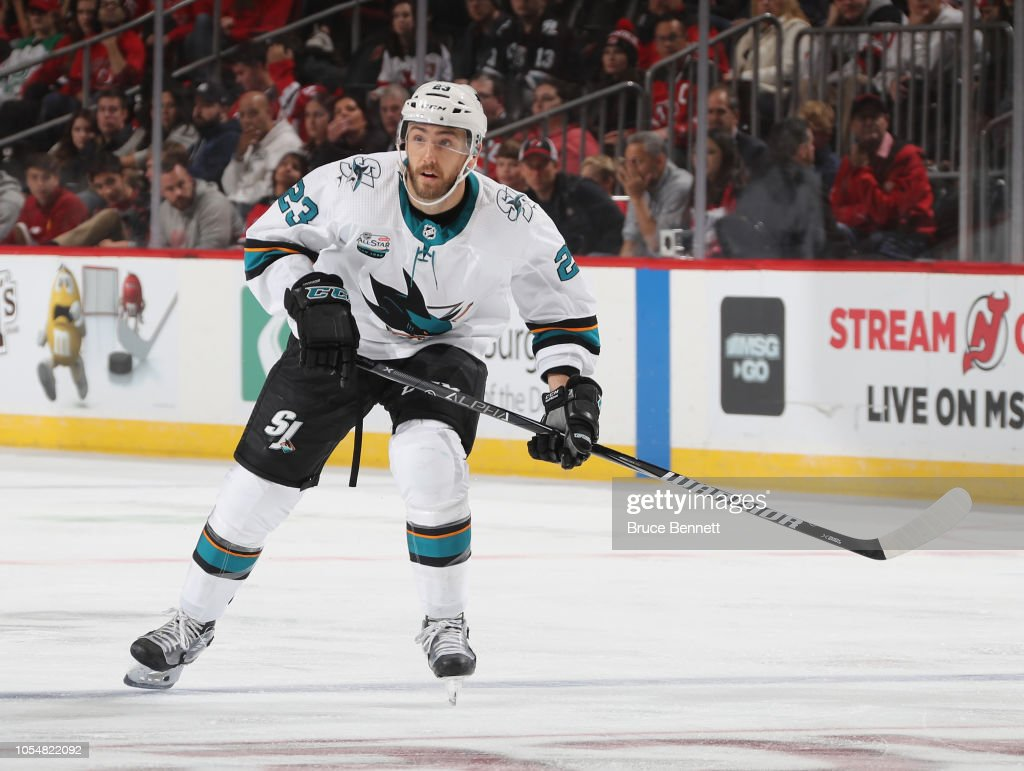 check out 7e3c9 5f3b6 Barclay Goodrow of the San Jose Sharks skates against the ...