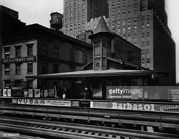 Barclay Street Station on the IRT Ninth Avenue Line New York City USA 1932