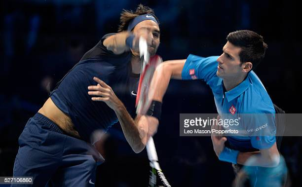 Barclays ATP World Tour Finals 02 Arena London UK FINAL Novak Djokovic SRB v Roger Federer Djokovic won the match 64 64