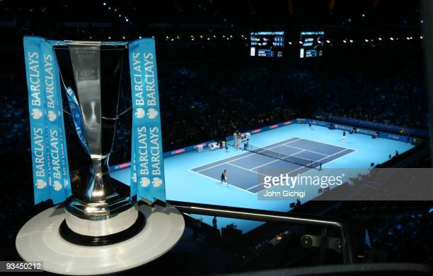 Barclays ATP World Tour Finals Trophy is seen during the Barclays ATP World Tour Finals at the O2 Arena on November 26 2009 in London England