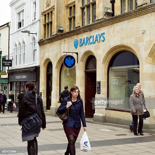 barclays bank branch in norwich - barclays brand name stock photos and pictures