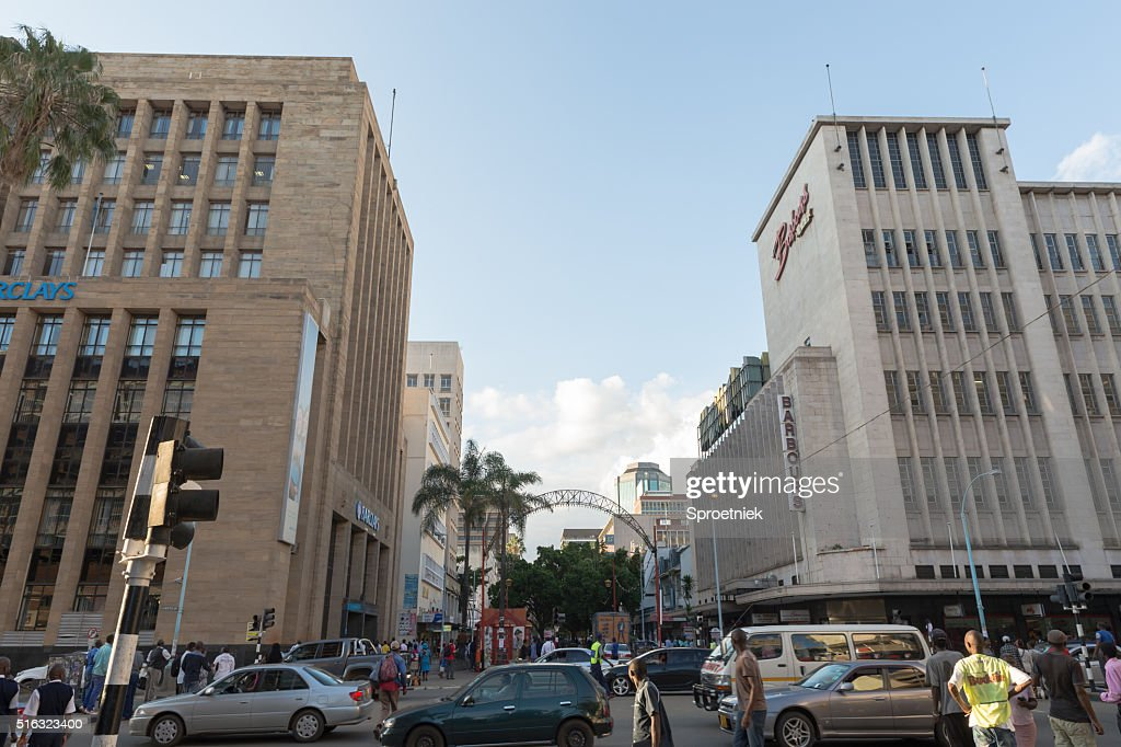Barclays Bank Building In Downtown Harare Zimbabwe Stock