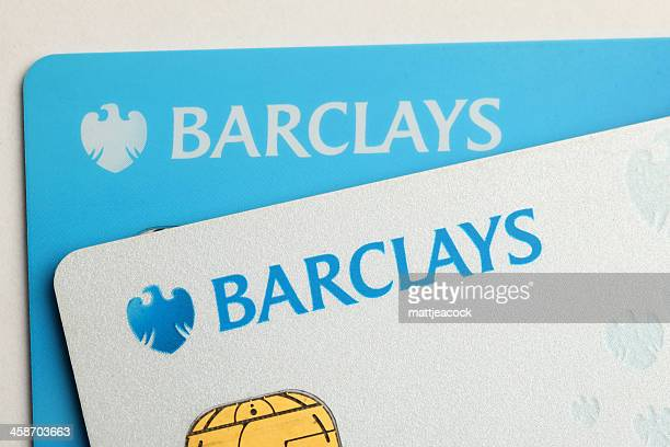 barclays bank credit cards - barclays brand name stock pictures, royalty-free photos & images