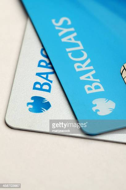 barclays bank credit cards - barclays brand name stock photos and pictures