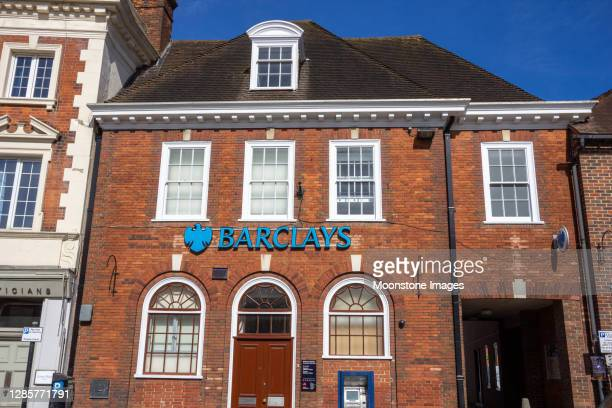 barclays bank in sevenoaks high street, england - barclays brand name stock pictures, royalty-free photos & images
