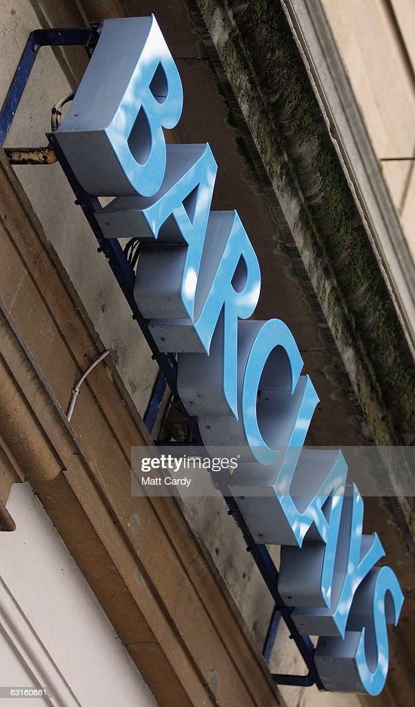 A Barclay's Bank sign hangs above a branch on October 7, 2008 in Bristol, England. Financial markets continue to fluctuate as the banking crisis continues.