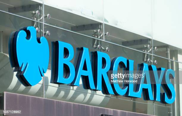 Barclays bank sign seen on September 10 2018 in Cardiff United Kingdom