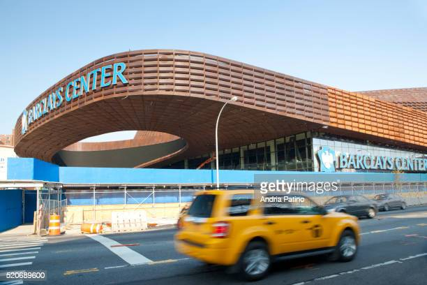 barclays center 19,000-seat stadium opens to the public on september 28th, 2012 with a jay-z concert - barclays center brooklyn stock pictures, royalty-free photos & images