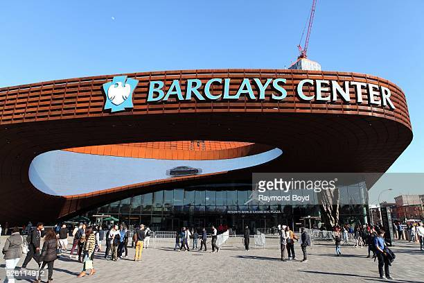 Barclays Center home of the Brooklyn Nets basketball team in Brooklyn New York on April 15 2016