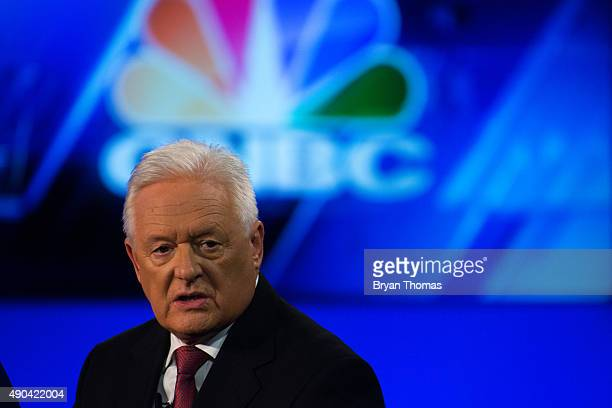 Barclay's Chairman John McFarlane speaks with CNBC's Becky Quick during the Clinton Global Initiative Annual Meeting at the Sheraton Hotel and Towers...