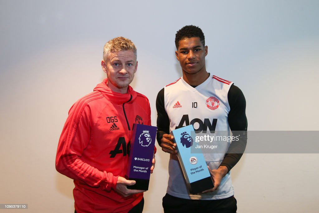 Ole Gunnar Solskjaer Wins the Barclays Manager of the Month Award - January 2019 : News Photo